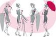 feminine silhouette, collection 2. Similar to portfolio