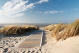 Fototapeta Landscape - Nordsee Strand auf Langeoog