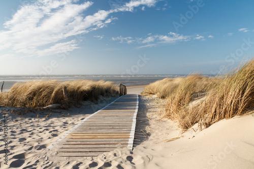 Foto-Leinwand - Nordsee Strand auf Langeoog