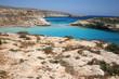 plage de l'île dei conigli, à lampedusa, sicile