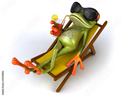 Grenouille et chaise longue – kaufen Sie se Illustration und ... on chaise recliner chair, chaise sofa sleeper, chaise furniture,