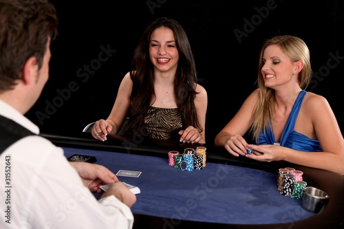 Poker Girls Wallpaper Mural