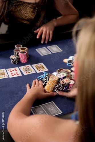 Fotografie, Obraz  Poker Girls