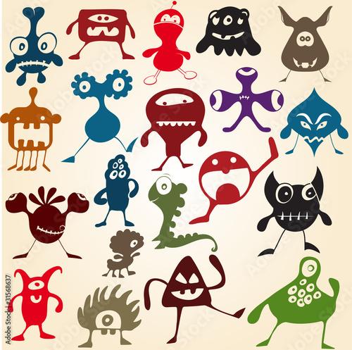 doodle-potwory