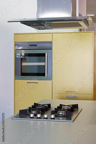 Cuisine Moderne Avec Hotte Centrale 23 Buy This Stock Photo And