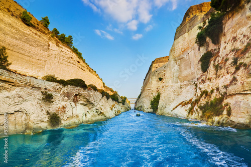 Corinth channel in Greece Tablou Canvas