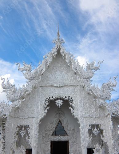 Spoed Foto op Canvas Bedehuis Thai unique decoration white church