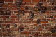 alte Mauer - Hintergrund - Backstein