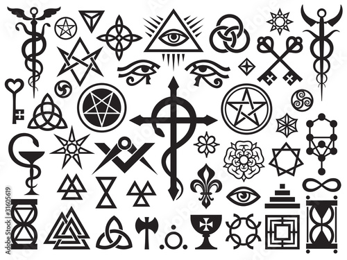 Photo  Medieval Occult Signs And Magic Stamps, Locks, Knots (with Additions)