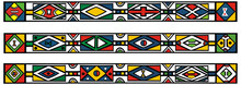 Set Of Traditional African Ndebele Patterns - Vector Illustratio