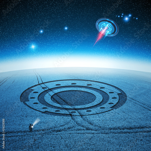 Photo sur Aluminium UFO Signs and Wonders