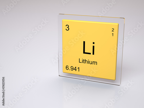 Lithium Chemical Element Of The Periodic Table With Symbol Li Buy
