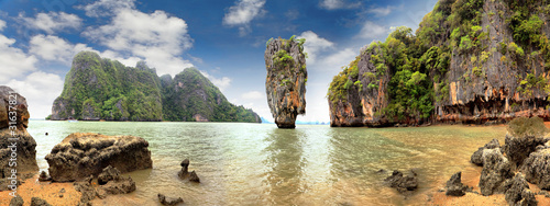 Foto-Leinwand - James Bond Island, Phang Nga, Thailand (von dred2010)