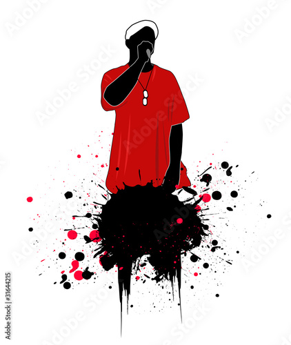 Fotografie, Obraz  rapper vector illustration