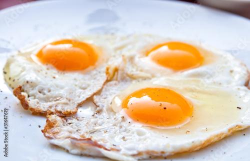 Deurstickers Gebakken Eieren Prepared Egg