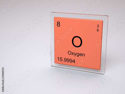 Oxygen Symbol O Chemical Element Of The Periodic Table Buy