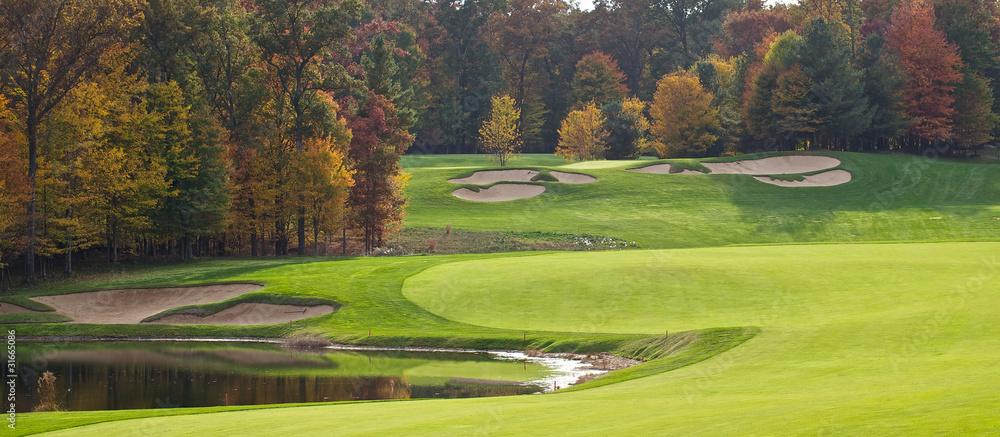 Fototapeta Golf Course in the Autumn