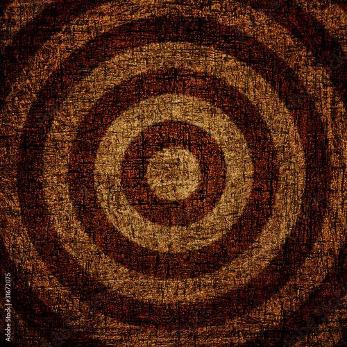 target on grunge background Canvas Print