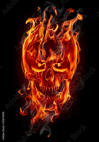 Recess Fitting Flame Fire skull