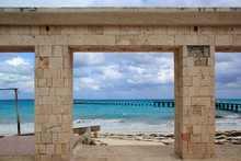 Damaged Pier And Beach After H...