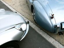 Britische Roadster Sportwagen Der Fünfzigerjahre Und Sechzigerjahre In Der Klassikstadt Im Stadtteil Fechenheim In Frankfurt Am Main In Hessen