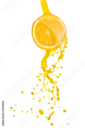Staande foto Opspattend water orange juice splash