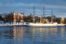 Stockholm, Admiralty House And Af Chapman Ship