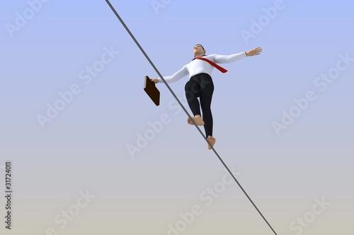 Cuadros en Lienzo businessman tightrope walker
