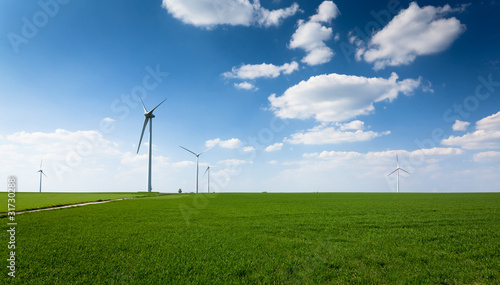 Tuinposter Molens groupe d'éoliennes