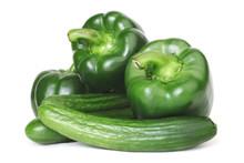 Green Pepper And Cucumber