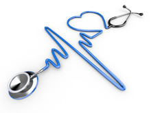 Stethoscope And A Silhouette O...