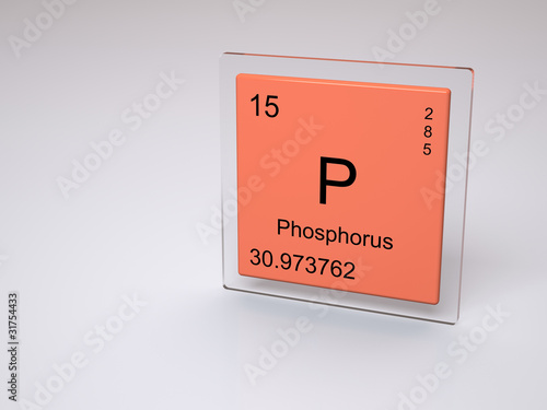Phosphorus Symbol P Chemical Element Of The Periodic Table Buy