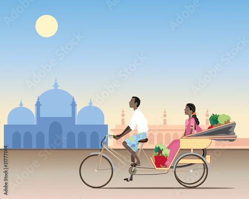 Fényképezés  rickshaw