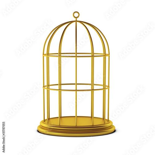 Fotografie, Obraz  3d render of bird cage