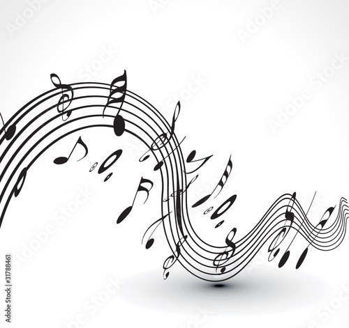Fototapeta musical notes background obraz