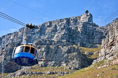 Poster Afrique du Sud table mountain cable way