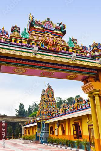 Foto op Canvas Zuid Afrika Hindu temple at Kuala Lumpur Malaysia