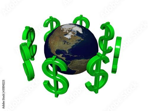 Fototapeta świat pieniędzy obraz