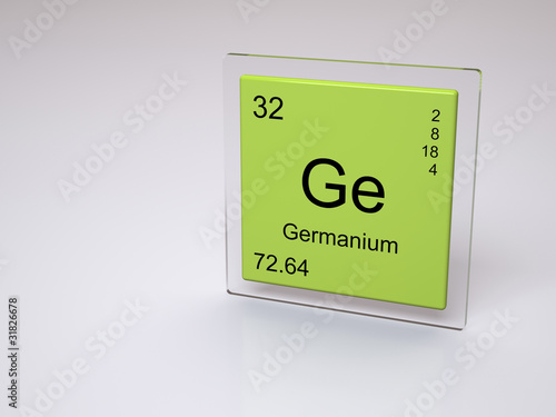 Germanium Symbol Ge Chemical Element Of The Periodic Table Buy