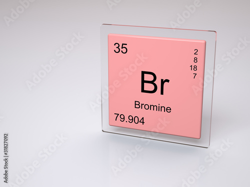 Bromine Symbol Br Chemical Element Of The Periodic Table