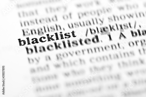 blacklist (the dictionary project) Canvas Print