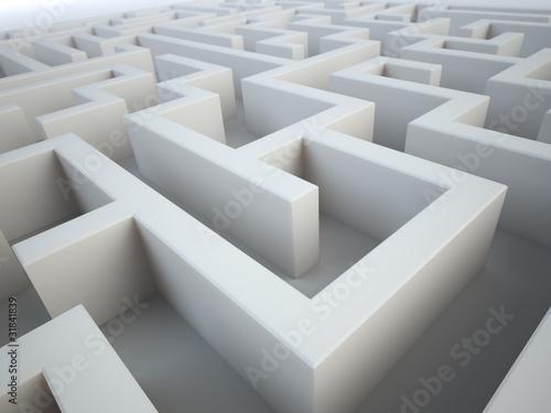 Maze close-up - complex problem solving concept - Buy this