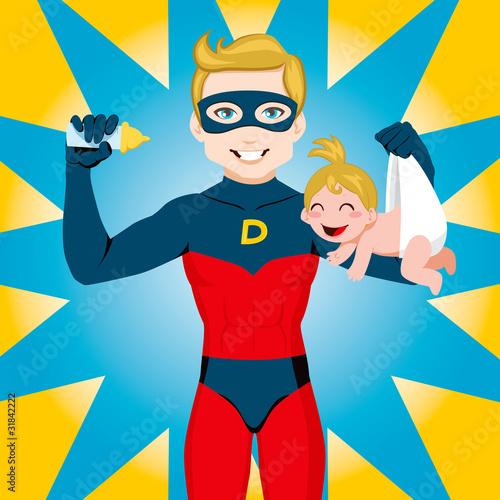 Poster Superheroes Super Hero Dad