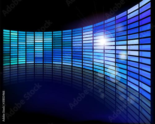 Fotobehang Fractal waves Wall of screens