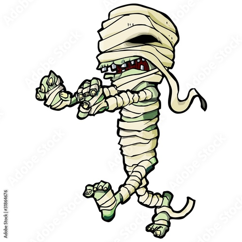 Slika na platnu Cartoon Egyptian mummy