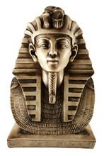 A Marble Statue Of Tutankhamun
