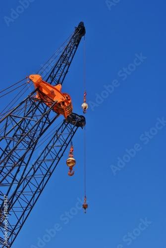 Fotografie, Obraz  Mechanical Crane Arms and Cables