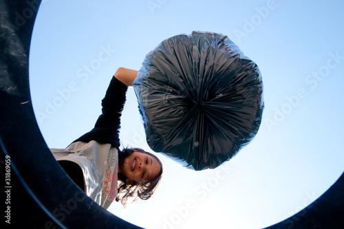 Photo jeter la poubelle