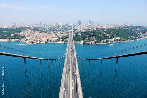 Leinwand Poster Bosphorus Bridge