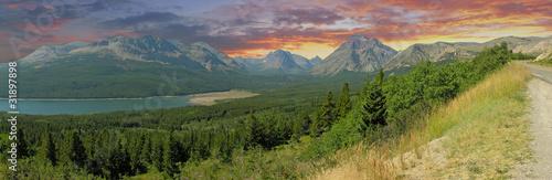 Valokuva  Panoramic view of Glacier National Park